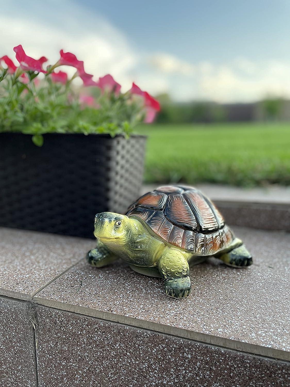 Turtle Ceramic Garden Outdoor Statue -Turtle Figurine- Cute Porcelain Garden Décor- Outdoor Indoor Animal Décor -Garden Art Decoration Housewarming- Gift Turtle Statue Yellow