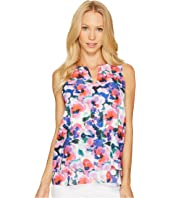 Tahari by ASL - Sleeveless V-Neck Floral Print Blouse