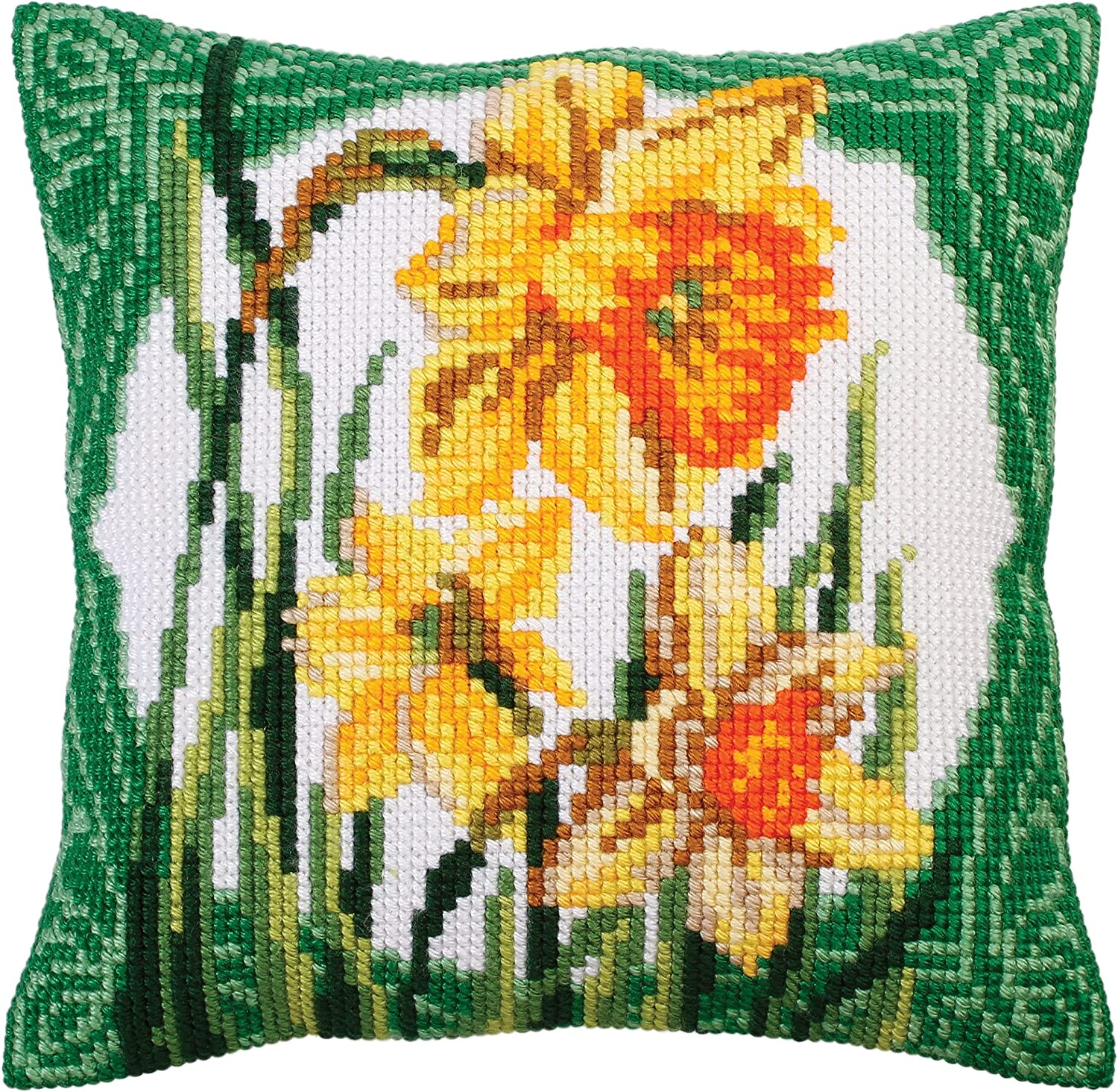 Collection D'Art Narcissus Needlepoint 40 Max 67% OFF KIT New color x 40cm