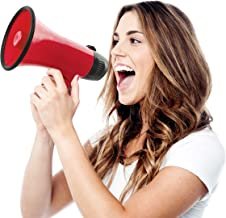 Hammer + Axe Handheld Megaphone, Bullhorn Loudspeaker with Built-In Bottle Opener, Battery-Powered Horn for Coaches and Fans, Best Speaker for Football and Soccer Games, Amplify Voice Volume and Siren