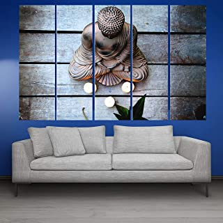 Kyara arts Big Size Multiple Frames, Beautiful Buddha Wall Painting for Living Room, Bedroom, Office, Hotels, Drawing Room...