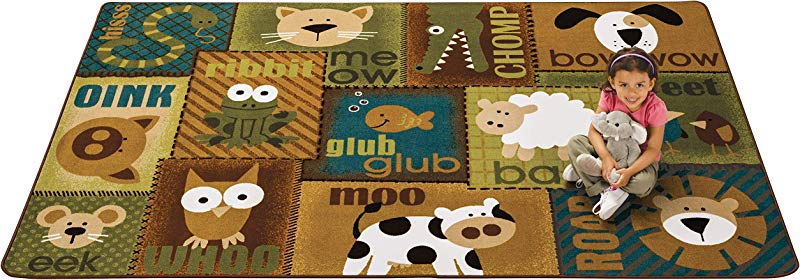 Carpets For Kids 18724 Animal Sounds Kids Rug 4 X 6 Multicolored