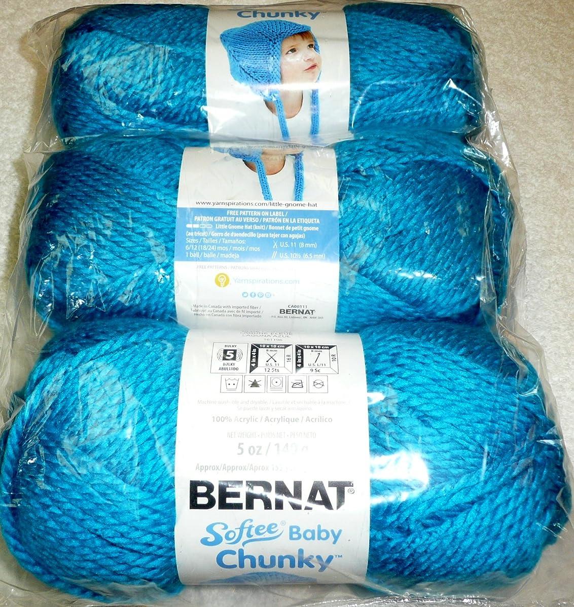 Bulk Buy: Bernat Softee Baby Chunky Yarn (3-Pack) Blue Lagoon 161196-96011
