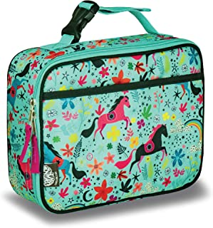 LONECONE Kids' Insulated Lunch Box - Cute Patterns for Boys and Girls, Moroccan Horses, Standard with Buckle