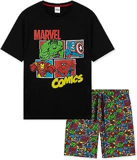 Marvel Mens Pyjamas, Men Short PJs, Marvel Comics Loungewear Set Medium To XXXL