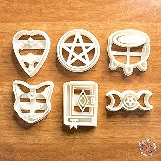 Witch Aesthethic set cortadores galletas con temática mágica brujas, molde adecuado para galletas, pasta de azúcar, decora...