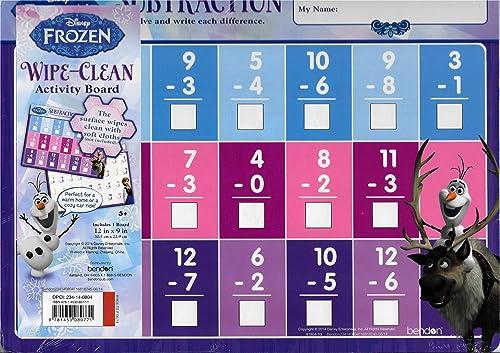 Disney Frozen Wipe-Clean Activity Board - Subtraction