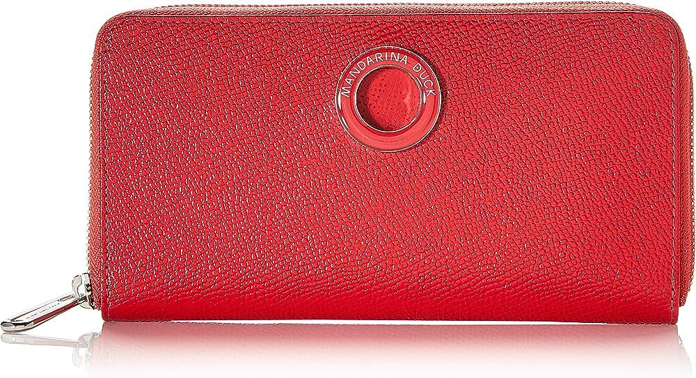 Mandarina duck deluxe,  portafoglio, porta carte di credito da donna, in pelle sintetica P10BZP01