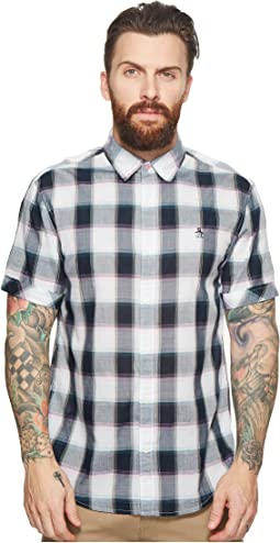 Original Penguin Short Sleeve Check Woven