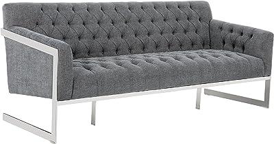 Sunpan Modern Broadway Sofa, Hemingway Slate