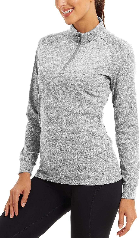 MAGCOMSEN Women's Long Indianapolis Mall Sleeve Running Wo Ranking TOP9 Fleece Sweatshirts Yoga