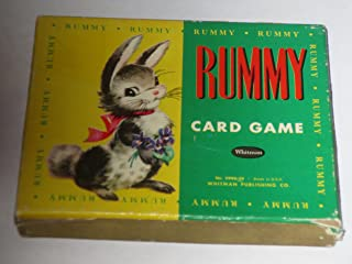 VINTAGE Animal Rummy 44 card set [4 each of 11 animals] -- includes instructions