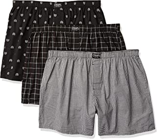 Chaps Underwear Men's Plus Woven Boxer - Extended Size