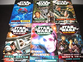 6 Book Set Star Wars The New Jedi Order~Edge of Victory Conquest/Dark Tide Ruin/Rebel Stand/Rebel Dream/Agents of Chaos He...
