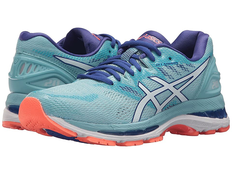 ASICS GEL-Nimbus(r) 20 (Porcelain Blue/White/Asics Blue) Women