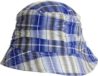 LL Women's Spring Summer Plaid Bucket Hats - Blue