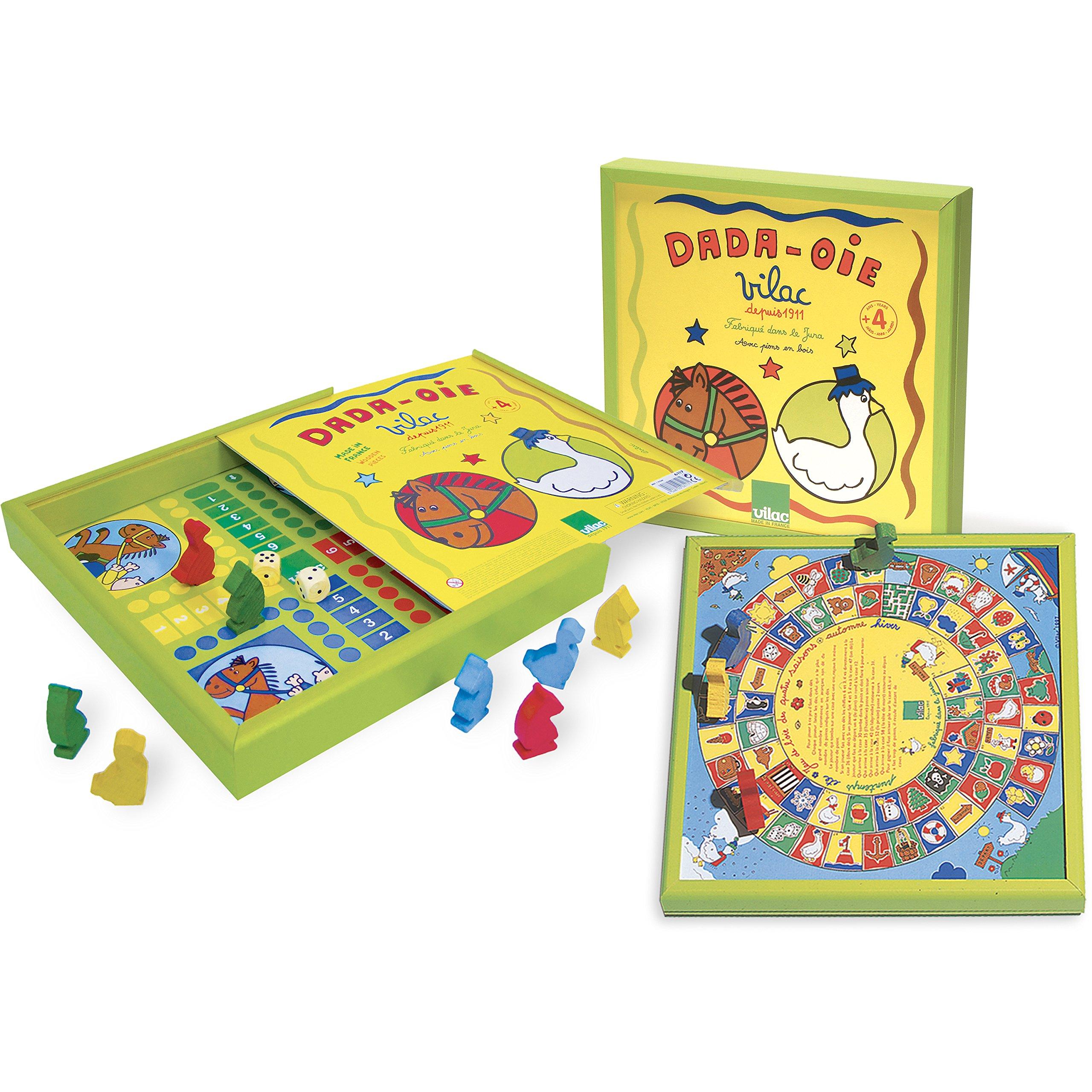 Vilac - Juego de parchís y oca clásico (6117): Amazon.es: Juguetes y juegos