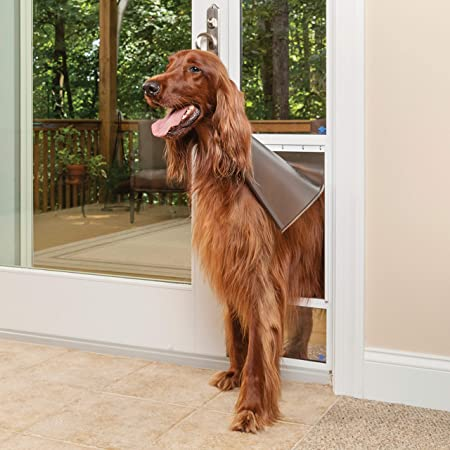 PetSafe Freedom Aluminum Patio Panel Sliding Glass Pet Door for Dogs and Cats - Adjustable Frame
