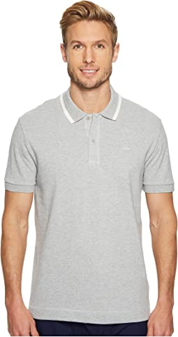 Lacoste - Short Sleeve Petit Pique w/ Tonal Crock Regular