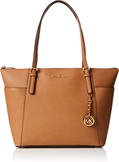 8a1f59875ad7 FREE Shipping by Amazon. Michael Kors Women Jet Set Large Top-zip Saffiano  Leather Tote Shoulder Bag