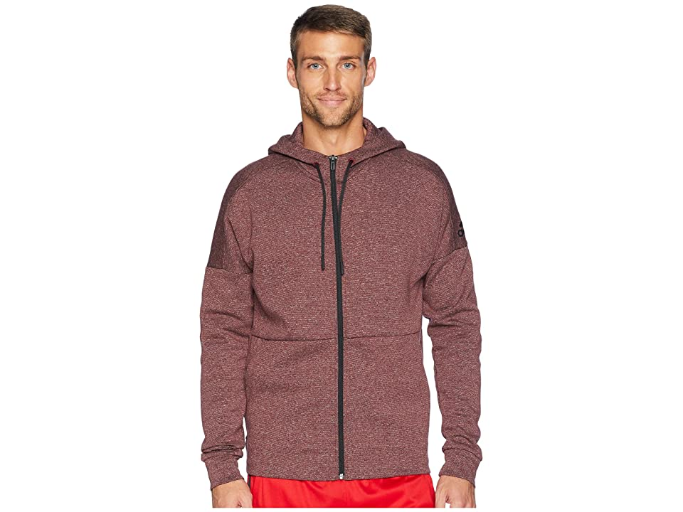 adidas Sport ID Stadium Full-Zip Hoodie (Stadium Heather/Noble Indigo 2) Men