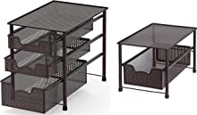 Simple Houseware Stackable 3 Tier Sliding Basket + Single Tier Sliding Basket