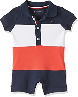 Tommy Hilfiger Baby Boys Colourblock Shortall Short Sleeve Onesie