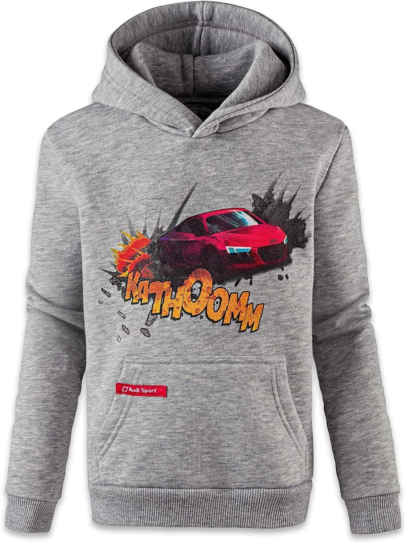 Felpa con cappuccio per bambini grigio grigio 98-104 Audi Sport