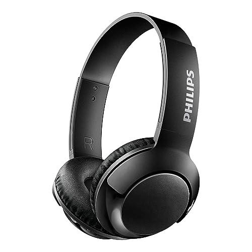 Philips BASS+ SHB3075BK Casque Bluetooth avec Micro, Commandes Volume et Appel, Pliable, 12h d'autonomie, Noir