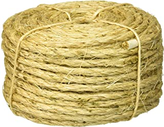 Lehigh Group 8010LW-P Lehigh 8010Llw Twisted Rope, 1/4 in Dia X 100 Ft L, 48 Lb, 100'