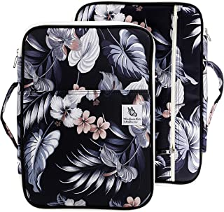 Lazyaunti Zipper Portfolio Organizer A4 Note Pouch-Waterproof Document Bags/Zipper Binder/Paper Case for 12.5