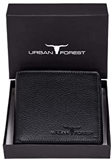 Urban Forest Stan Black RFID Blocking Minimalist Leather Wallet for Men