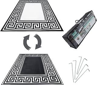 R.v. Patio Mat Awning Mat Outdoor Leisure Mat New Grecian Complete Kit (Silver,9x18)