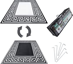 R.v. Patio Mat Awning Mat Outdoor Leisure Mat New Grecian Complete Kit (Silver,9x18)