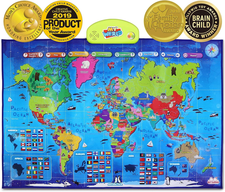 BEST LEARNING i-Poster San Jose Mall My World - Interactive Map Educational Tulsa Mall Ta