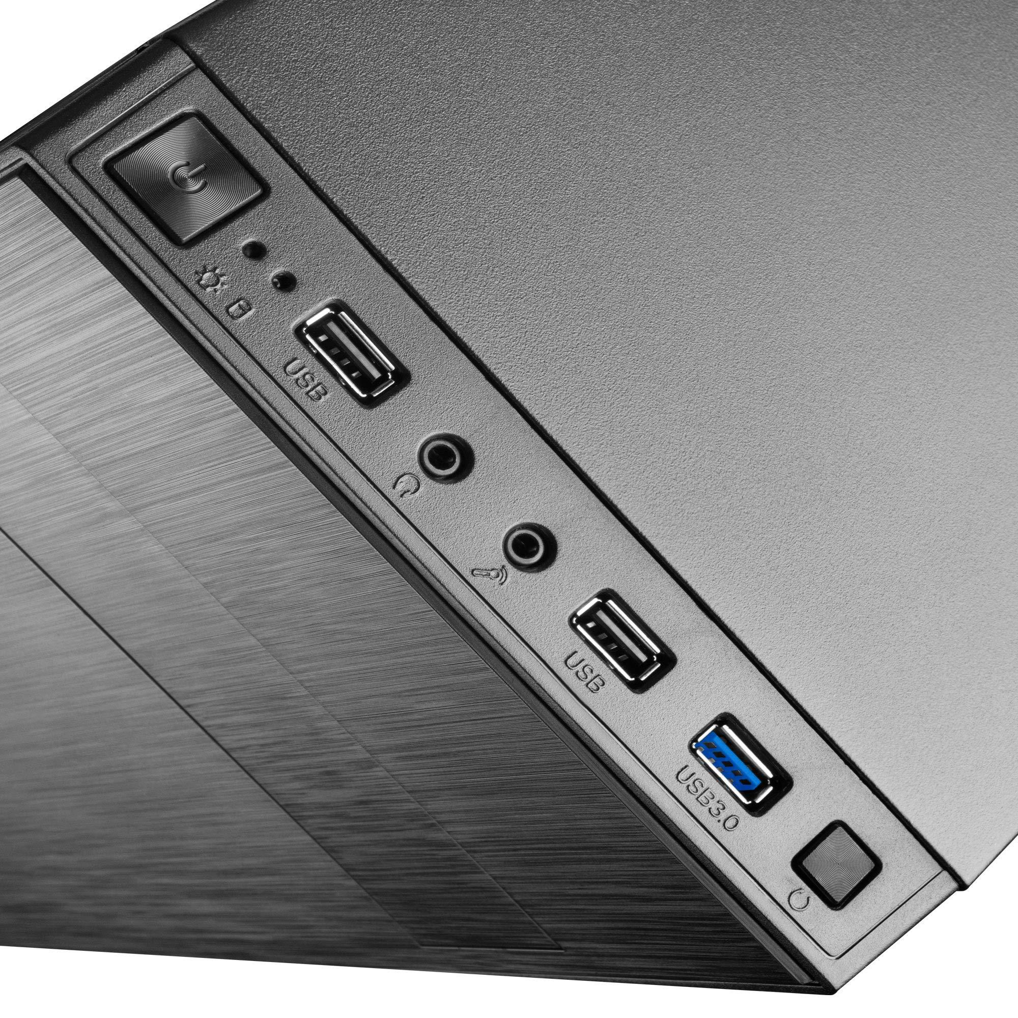 Tacens 2 ALU II, caja de ordenador PC, semitorre, ATX, ventilador 12 cm, USB 3.0, Color Negro: Amazon.es: Informática