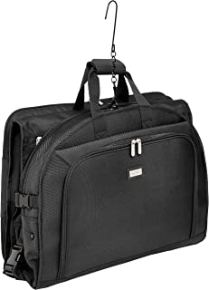 Premium Tri-Fold Travel Hanging Garment Bag - 52 Inch, Black