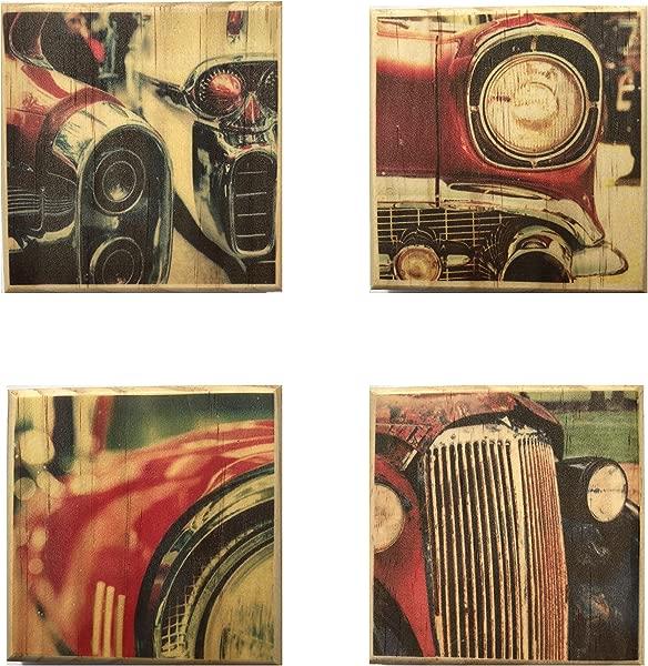 Antique Car Coasters By Brindle Southern Vintage Car Wooden Coaster Set