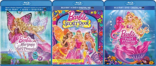 Barbie Collection #3 (Barbie: Mariposa and the Fairy Princess / Barbie and the Secret Door / Barbie: The Pearl Princess) (Blu-ray / DVD) (Blu-ray)