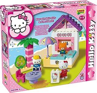 Unico 8669 - Juego de construcción de chiringuito (41 Piezas), diseño de Hello Kitty