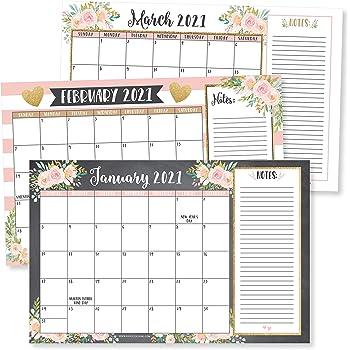Amazon.: Elegant Gold 2021 2022 Desk Calendar, Large Monthly