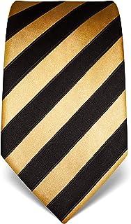 Vincenzo Boretti Męski krawat czysty jedwab w paski szlachetny męski design do koszuli z garniturem na wesele 8 cm wąski/s...