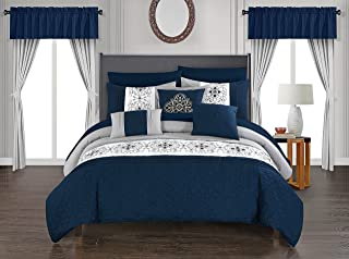Chic Home Emily Comforter Set, King, Navy