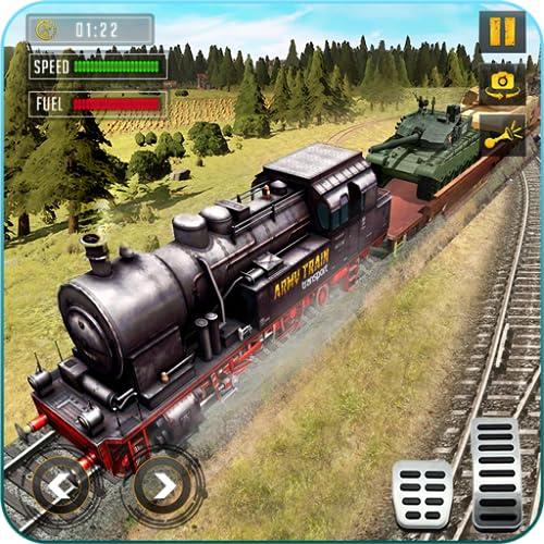 Wehrgüterverkehr Armeezug-Simulator 2019: Wehrgüterverkehr Zug: Schwertransporter, Transporter-Simulator: Güterzug-Transporter: Echter Eisenbahnzug-Fahrsimulator