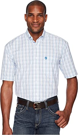 Wrangler George Strait Short Sleeve Plaid