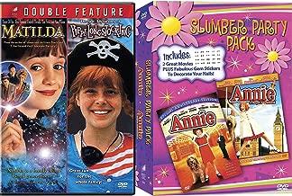 Annie Slumber Party Special Edition + Annie A royal Adventure Musical DVD Set & Matilda & Pippi Longstocking Girls Set