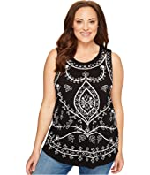 Lucky Brand - Plus Size Embroidered Eyelet Tank Top