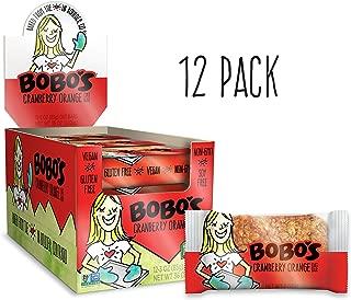 Bobo's Oat Bars, Cranberry Orange, 3 oz Bar (12 Pack), Gluten Free Whole Grain Snack and Breakfast Bar