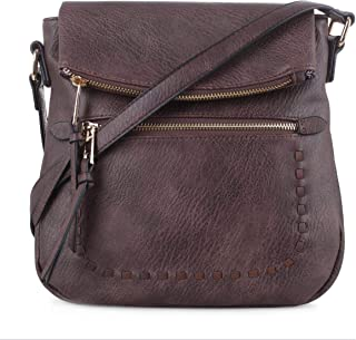SG SUGU Flap Lightweight Medium Crossbody Bag with Strap for Women