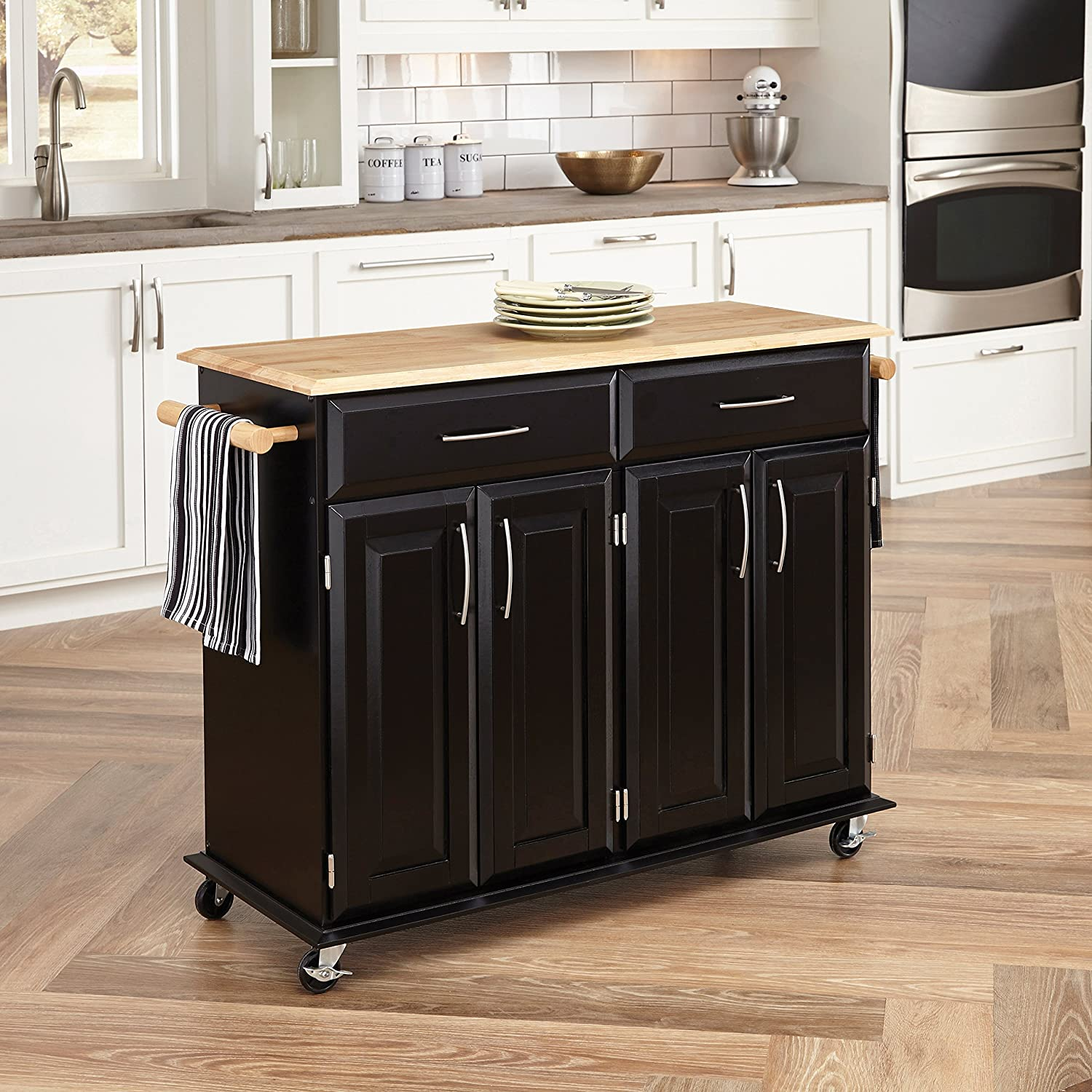Dolly Madison Black Kitchen Cart by Home Styles, 9 9/9 in. W x 98 9/9 in.  D x 9 9/9 in. H